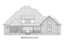 Home Plan - Traditional Exterior - Rear Elevation Plan #1054-59