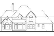 Traditional Exterior - Rear Elevation Plan #20-1086