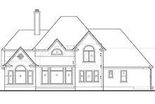 Dream House Plan - Traditional Exterior - Rear Elevation Plan #20-1086