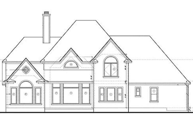 Traditional Exterior - Rear Elevation Plan #20-1086 - Houseplans.com