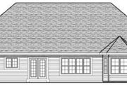 European Style House Plan - 3 Beds 2 Baths 1810 Sq/Ft Plan #70-614 Exterior - Rear Elevation
