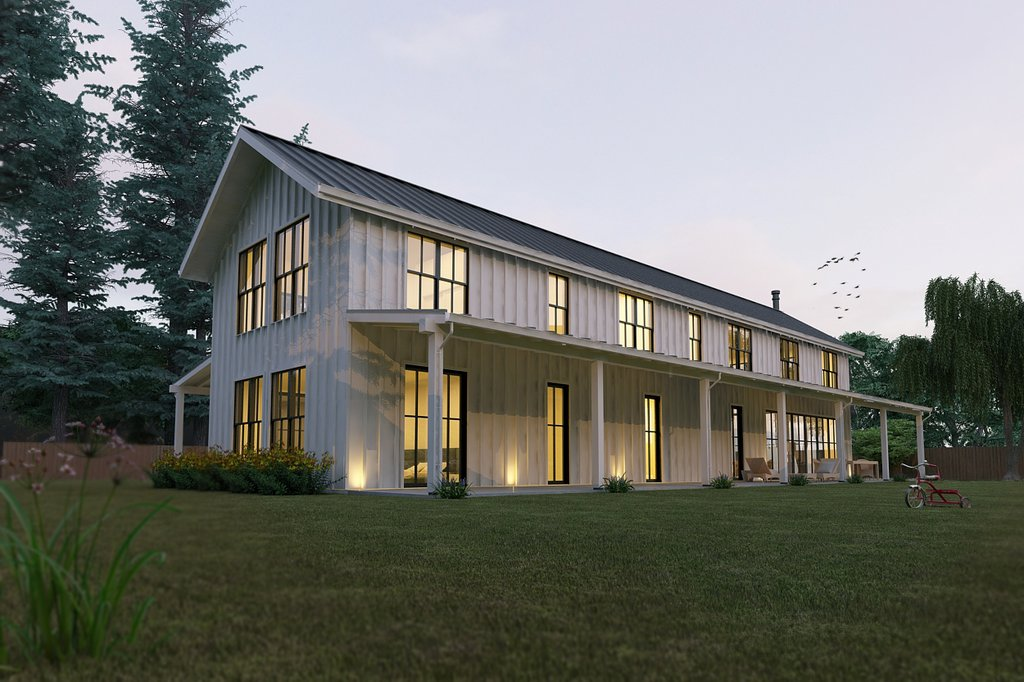 Modern Farmhouse Style Plan Design Home Front Elevation