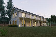 Home Plan - Modern Farmhouse style plan, modern design home, front elevation