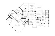 Farmhouse Floor Plan - Main Floor Plan Plan #54-390
