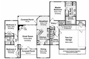 Southern Style House Plan - 3 Beds 2.5 Baths 1855 Sq/Ft Plan #21-102 Floor Plan - Main Floor Plan