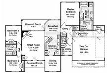 Southern Floor Plan - Main Floor Plan Plan #21-102