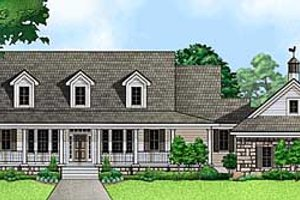 Country Exterior - Front Elevation Plan #67-676