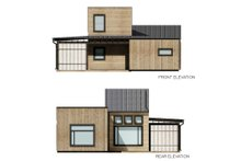 House Blueprint - Cabin Exterior - Other Elevation Plan #924-16