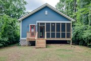 Cottage Style House Plan - 3 Beds 2 Baths 1396 Sq/Ft Plan #430-95 Exterior - Rear Elevation