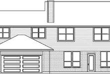 House Design - European Exterior - Rear Elevation Plan #84-236