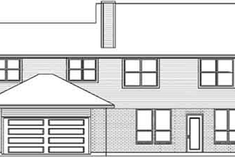 European Exterior - Rear Elevation Plan #84-236 - Houseplans.com