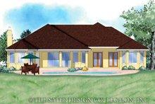 Colonial Exterior - Rear Elevation Plan #930-351