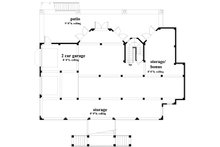 Southern Floor Plan - Lower Floor Plan Plan #930-18