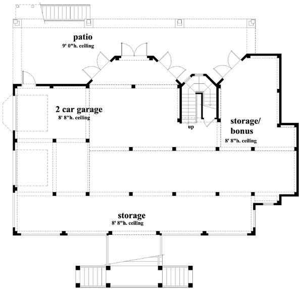 House Plan Design - Southern Floor Plan - Lower Floor Plan #930-18