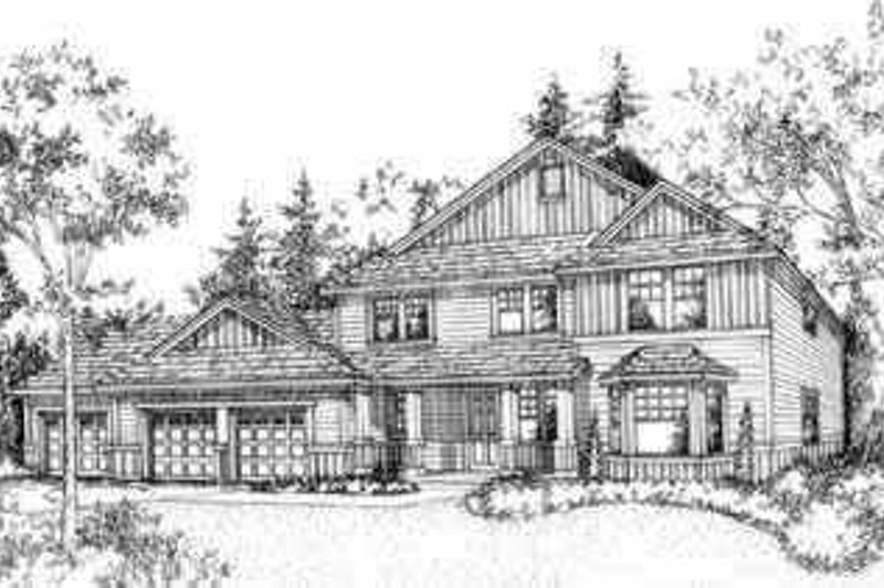 Traditional Style House Plan - 4 Beds 2.5 Baths 2295 Sq/Ft Plan #78-102 Exterior - Front Elevation