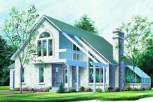 Contemporary Exterior - Front Elevation Plan #23-604
