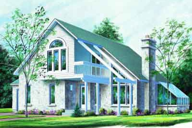 Home Plan - Contemporary Exterior - Front Elevation Plan #23-604