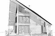 Log Style House Plan - 1 Beds 2 Baths 939 Sq/Ft Plan #451-9