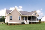 Country Style House Plan - 3 Beds 2.5 Baths 1882 Sq/Ft Plan #929-11 Exterior - Rear Elevation