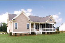Dream House Plan - Country Exterior - Rear Elevation Plan #929-11