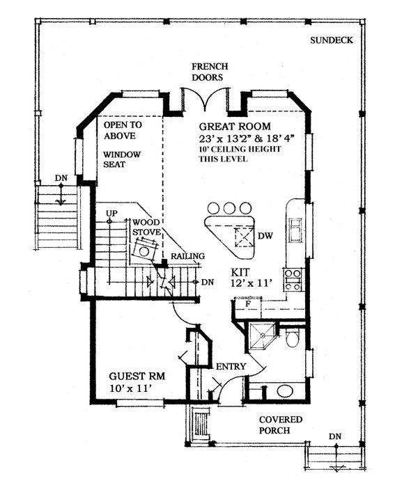 House Plan Design - Cottage Floor Plan - Main Floor Plan #118-170