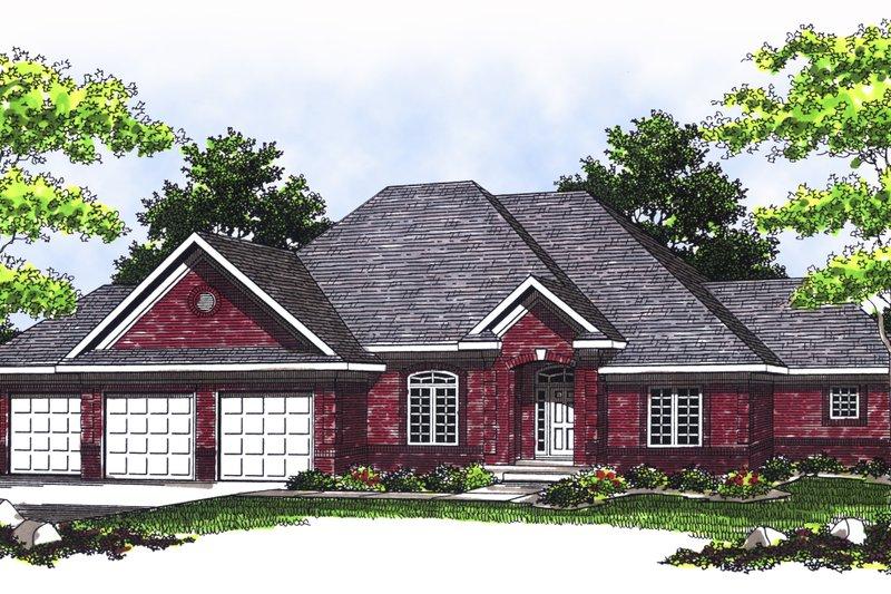 Dream House Plan - European Exterior - Front Elevation Plan #70-380