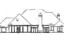 House Plan Design - European Exterior - Rear Elevation Plan #52-117