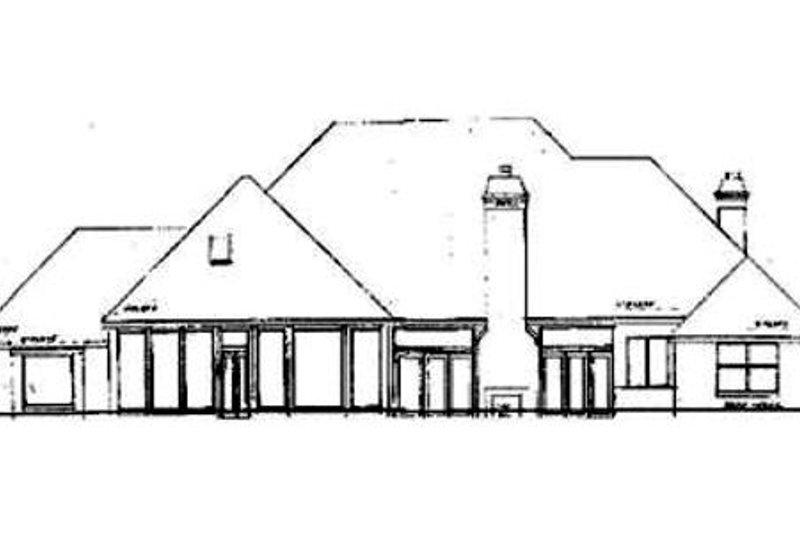 European Exterior - Rear Elevation Plan #52-117 - Houseplans.com
