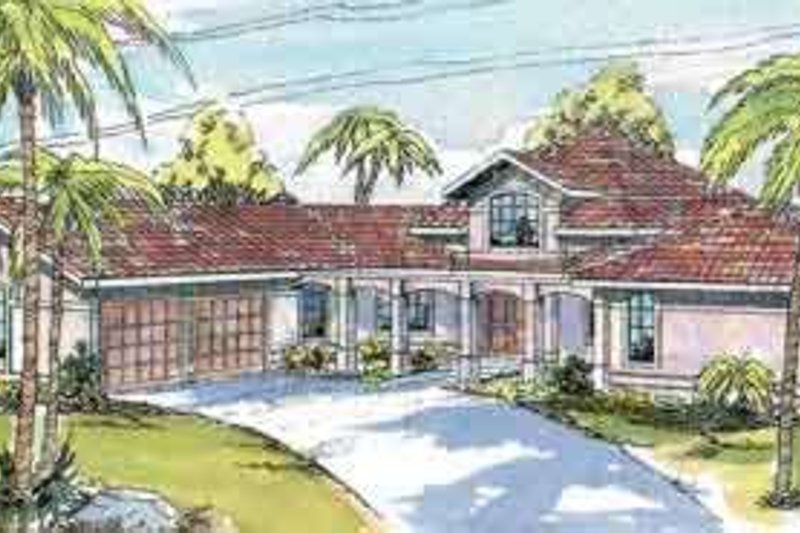 Ranch Exterior - Front Elevation Plan #124-425