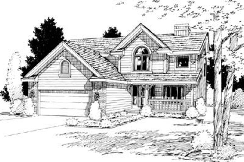 Traditional Exterior - Front Elevation Plan #20-924 - Houseplans.com