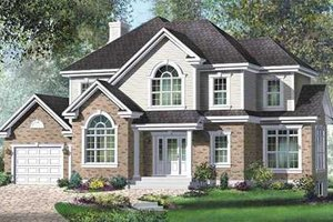 Farmhouse Exterior - Front Elevation Plan #25-4220