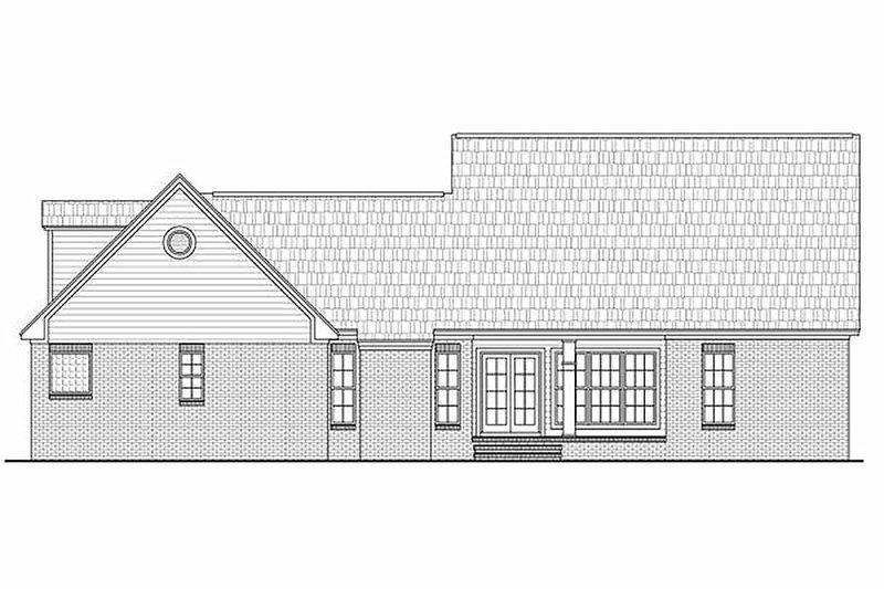 Country Exterior - Rear Elevation Plan #21-284 - Houseplans.com