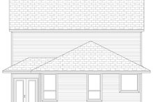 House Plan Design - Traditional Exterior - Rear Elevation Plan #84-573