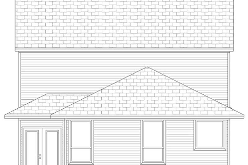 Traditional Exterior - Rear Elevation Plan #84-573 - Houseplans.com