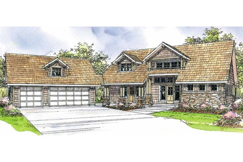 Craftsman Exterior - Front Elevation Plan #124-208