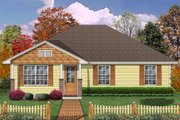 Craftsman Style House Plan - 2 Beds 1 Baths 1194 Sq/Ft Plan #84-575 Exterior - Front Elevation