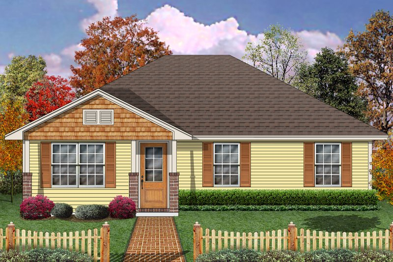 Dream House Plan - Craftsman Exterior - Front Elevation Plan #84-575