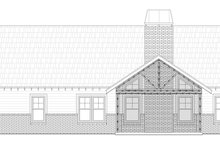 Architectural House Design - Craftsman Exterior - Rear Elevation Plan #932-281