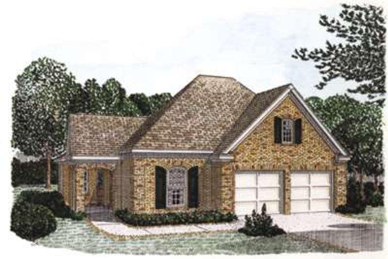 Dream House Plan - European Exterior - Front Elevation Plan #410-299