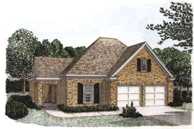 Home Plan - European Exterior - Front Elevation Plan #410-299