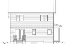 House Plan Design - Country Exterior - Rear Elevation Plan #23-2407