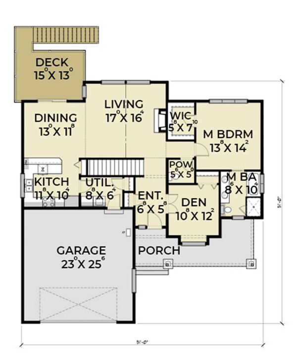 Dream House Plan - Craftsman Floor Plan - Main Floor Plan #1070-17