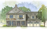 Farmhouse Style House Plan - 3 Beds 2.5 Baths 2728 Sq/Ft Plan #901-51 Exterior - Front Elevation