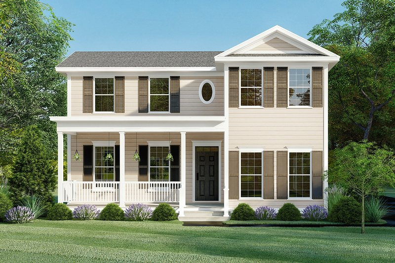 Farmhouse Style House Plan - 3 Beds 2 Baths 1680 Sq/Ft Plan #923-158 Exterior - Front Elevation