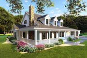 Farmhouse Style House Plan - 4 Beds 4 Baths 3416 Sq/Ft Plan #923-105 Exterior - Other Elevation