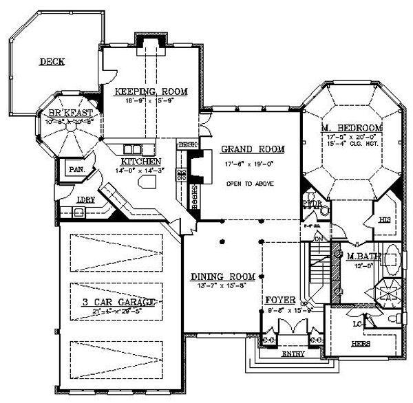 European Floor Plan - Main Floor Plan Plan #119-302