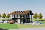 Modern Style House Plan - 3 Beds 3 Baths 2114 Sq/Ft Plan #542-4 Exterior - Rear Elevation