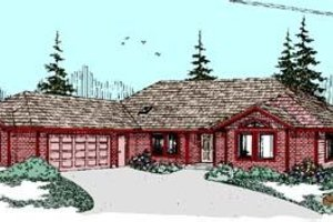 Ranch Exterior - Front Elevation Plan #60-261