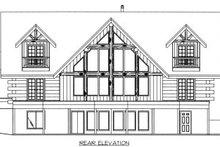 Log Exterior - Rear Elevation Plan #117-411