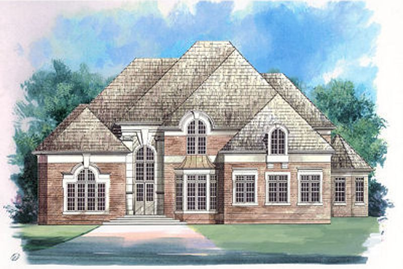 European Exterior - Front Elevation Plan #119-269
